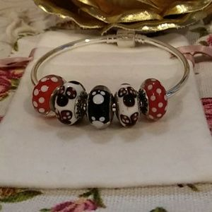 Faux!!! Set of 5 Mickey & Minnie Mouse Murano's